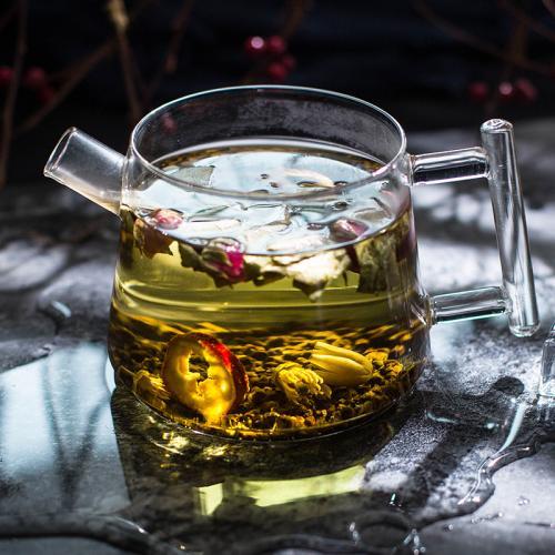 决明子玫瑰荷叶茶