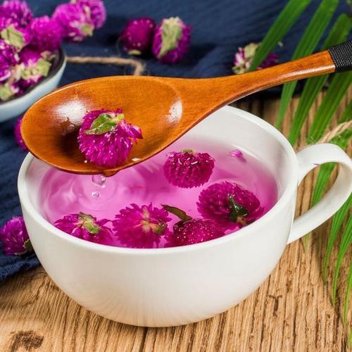 粉色千日红花茶图片